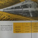 Electro Motive F7 diesel locomotive ad