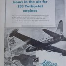 1950s Allison GM J33 turbojet / Lockheed F-80 Shooting Star ad