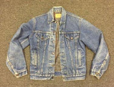 Vtg Levis Blanket Lined Denim Jacket 71506-0316 Sz 38L USA Made