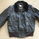 BRILL BROS INC. 1987 TYPE G-1 USN NAVY LEATHER JACKET BOMBER 46 EXC. Condition