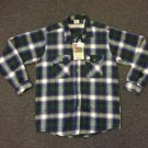 Vtg Five Brother Brawny Extra Heavyweight Flannel Shirt USA Made Sx L