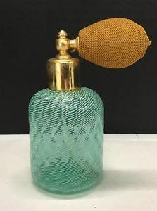 Vtg Mid Century Latticino Swirl Murano Glass Perfume Atomizer