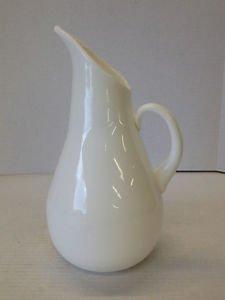 Mid Century Modern Milk Blown Glass Pitcher Viking? Blenko? Italian? Fenton?