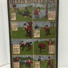 Vtg George Nathan Painted Wood Sign Rules Of The Gold Course Comical 16x25