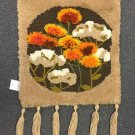 Vtg 1981 Sunset Designs Latch Hook Yarn Tapestry 8660 Thistles Retro