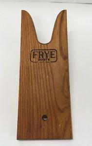 Vtg Frye Boots Wooden Boot Puller Store Display Branded Wood