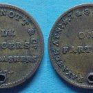 Belfast Ireland John Arnott & Co. farthing token, holed