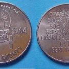 Susanville CA Lassen County Centennail 1964 50c municipal trade token K-23