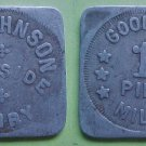 West Liberty IA Wayside Dairy good for 1 pint milk merchant token