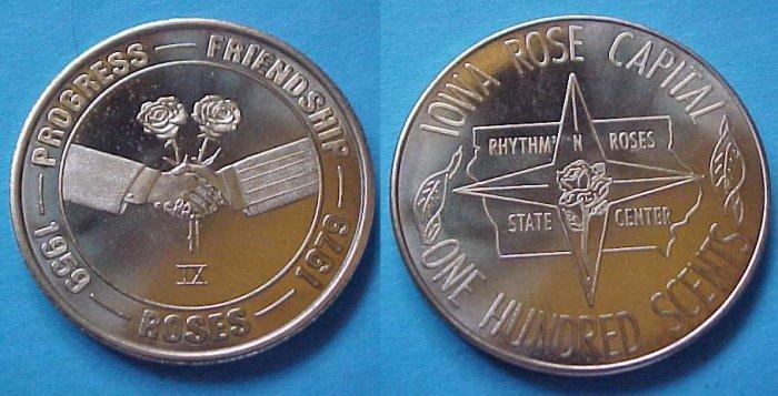 Iowa Rose Capital 1979 medal - Progress Friendship