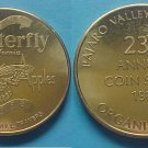Watsonville CA Pajaro Valley Coin Club PVCC 1988 medal - Butterfly California Apples