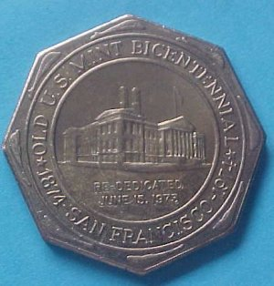 California State Numismatic Association CSNA Special 1974 medal - Old Mint Bicentennial (error!)