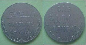 Hacienda Heights CA Coin-Op Gasoline $1.00 token