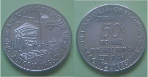 Astoria OR Sesquicentennial 1961 50c token