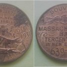 Massachusetts Bay MA Tercentenary 1930 medal fish pilgrim