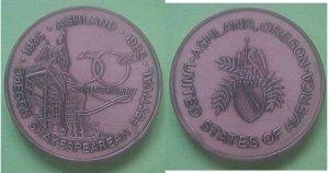 Ashland OR Oregon Shakespearean Festival 50th Anniversary 1985 medal
