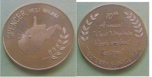 Spencer WV Black Walnut Festival 1964 medal