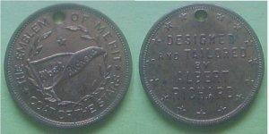 Albert Richard Coats merchant advertising token - Coat Of The Stars