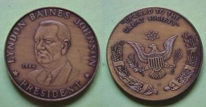 Lyndon Johnson - Great Society 1964 medal