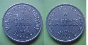 New York etc. Valentines Varnishes early merchant token