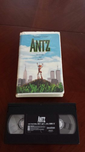 Antz VHS, Good Clamshell, Woody Allen, Dan Aykroyd, Anne B 1999 Dream Works