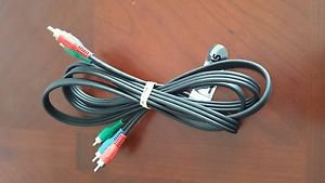6FT COMPONENT VIDEO CABLE 3 RCA MALE TO MALE RGB HDTV DVD VCR