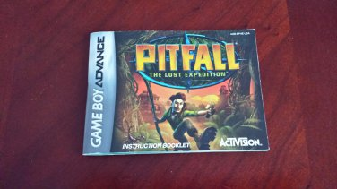 MANUAL ONLY PITFALL GBA Game Boy Advance Instruction Booklet