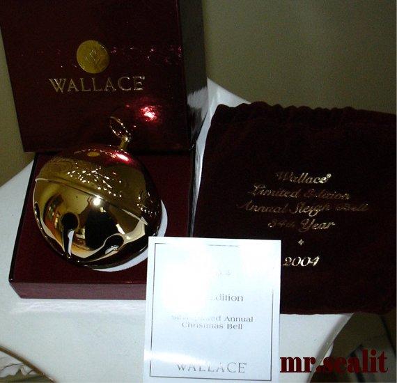 WALLACE 2004 GOLD SLEIGH BELLS