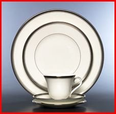 WATERFORD HARCOURT PLATINUM 5 PIECE PLACE SETTING