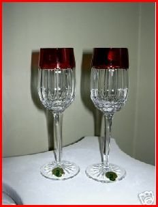 WATERFORD SIMPLY RED CORDIAL PAIR
