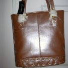 Sondra Roberts Pink Leather Tote Bag