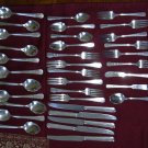 Wm. A. Rogers Oneida 35 pc. Silverplate Flatware Set Coronet 1933