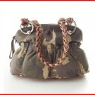 B. Makowsky Caroline Camouflage  Leather Handbag