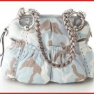 B. Makowsky Caroline Camouflage  Leather Handbag Denim-Multi