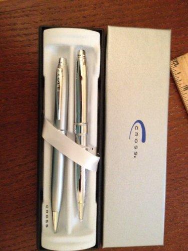 A T Cross Chrome Mechanical Pencil Set of 2