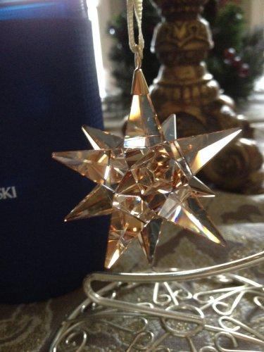 Swarovski 3-D Star Ornament Golden Shadow