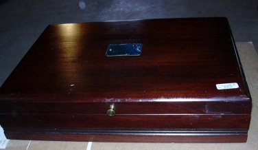 Reed & Barton Mahogany Flatware Chest