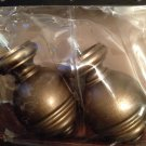 Curtain Rod Wood Finial Pair Cambria Urn Gold
