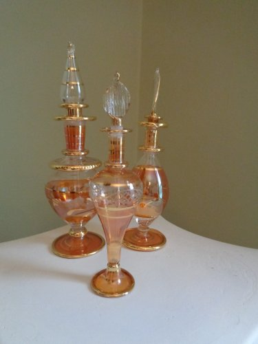 Egyptian Perfume Bottles Set of 3