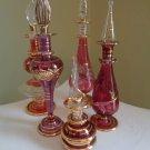 Egyptian Perfume Bottles Set of 5