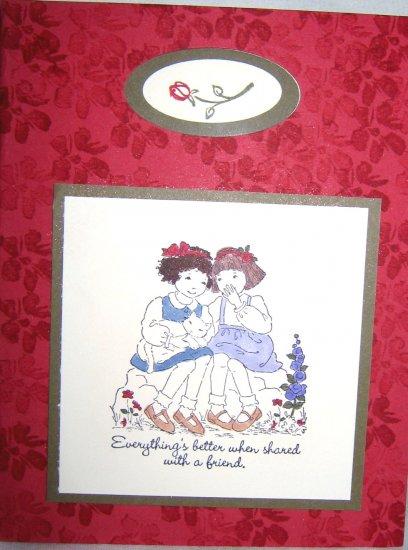 Handmade Card - Two girls