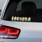 Despicable ME 2 Minion Gang Full Colour Vinyl Decal Window Sticker Car Bumper Gift Present