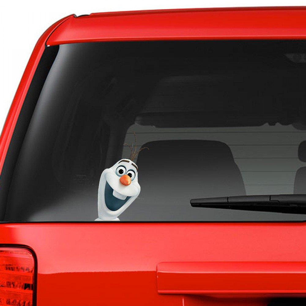 Frozen Olaf on Board Funny Joke Novelty Car Bumper Window Sticker Decal For Any Car Full Colour