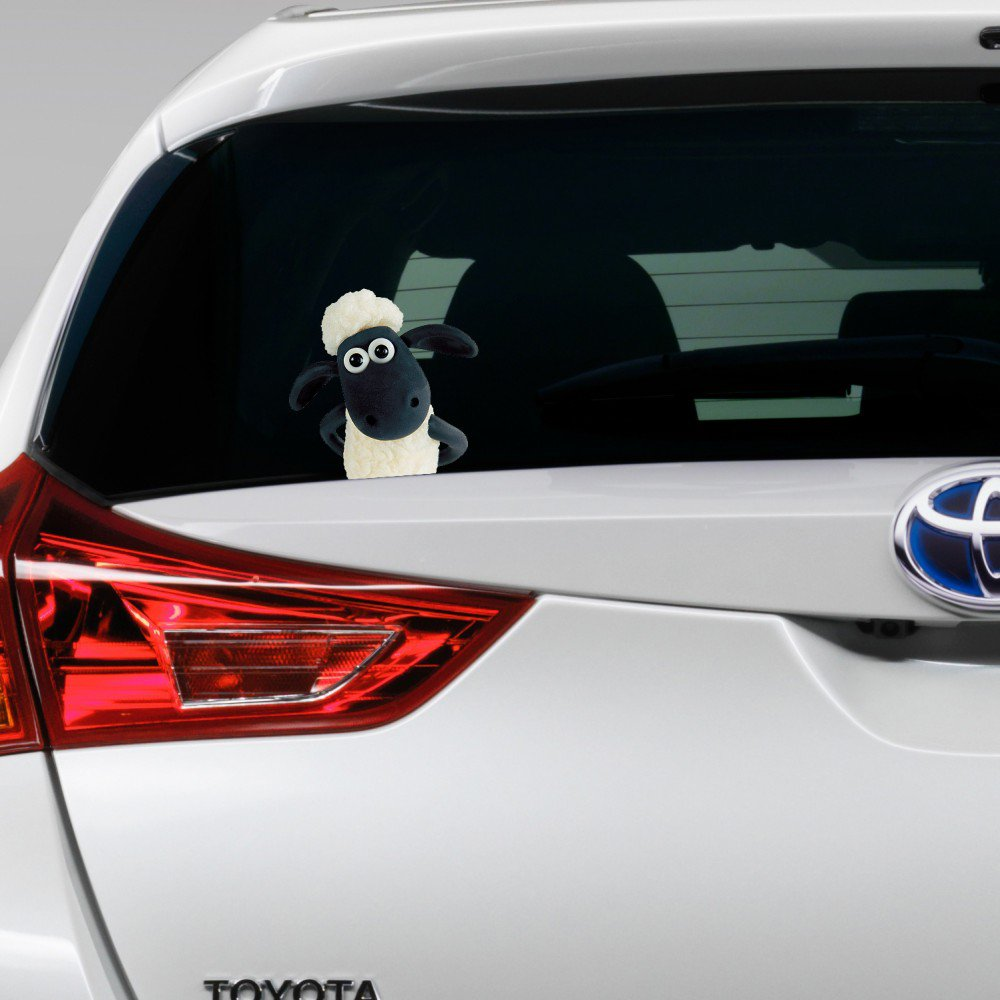 Shaun the Sheep Peeking on Board Funny Joke Novelty Car Bumper Window Sticker Decal Colour