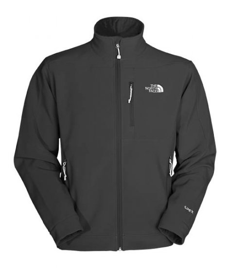 New The North Face Mens Softshell Jacket Bionic Apex Size Large Black Retail $130.00 L