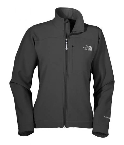 New The North Face Womens Softshell Jacket Bionic Apex Size Small Black Retail $130.00