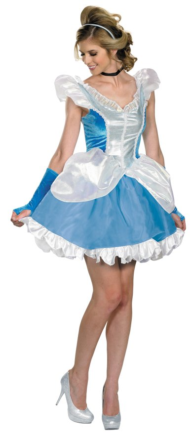 Disney Princess Cinderella SASSY Dress Deluxe Costume Large size 12-14