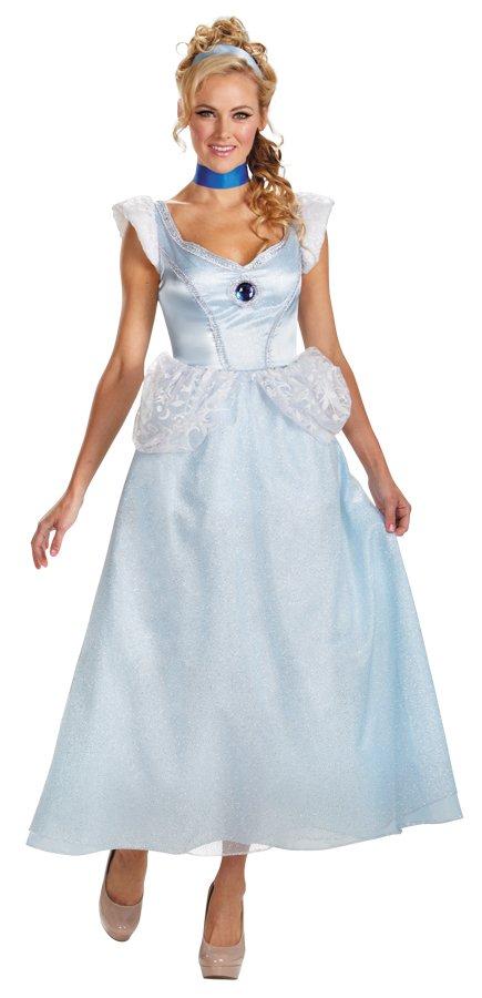 Disney Princess Cinderella Dress Deluxe Costume Large size 12-14