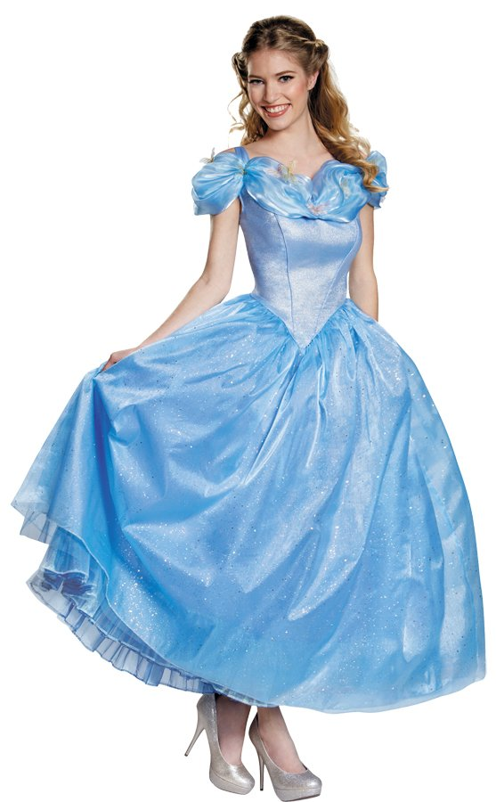 Disney Princess New CINDERELLA MOVIE PRESTIG Dress Deluxe Costume Meduim size 8-10