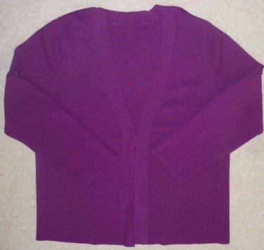 Duet Cardigan with Matching Tank*Jam Purple*Cardigan Long Sleeves*Tank Sleeveles